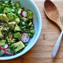 アボカドと枝豆のサラダ