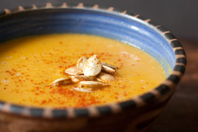 スパイスパンプキンスープのレシピ