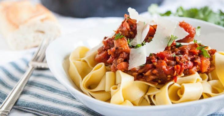 茄子のボロネーゼのレシピ