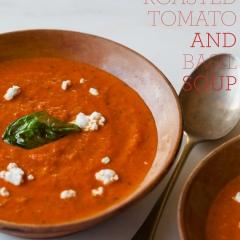 ローストトマトとバジルのクリーミースープ