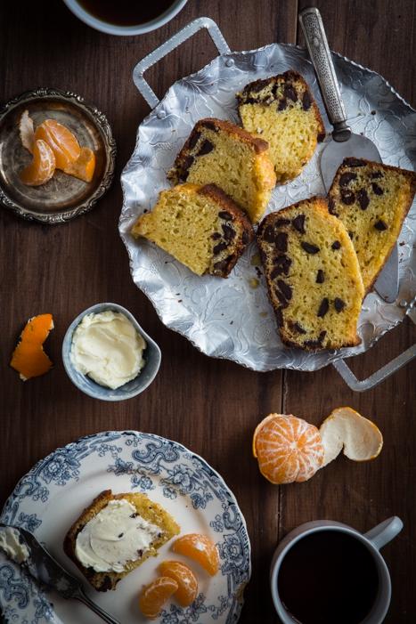 オレンジとチョコレートのパウンドケーキのレシピ