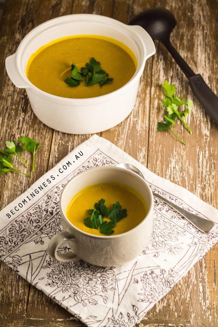 かぼちゃとココナッツのスープのレシピ