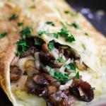 マッシュルームとモッツァレラのフレンチオムレツのレシピ