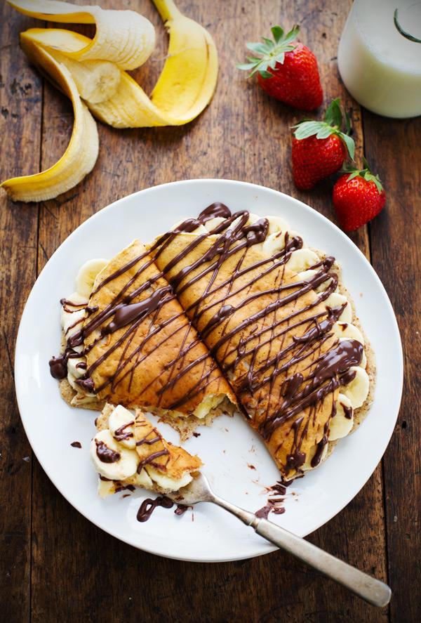 アーモンドオーツバナナクレープのレシピ