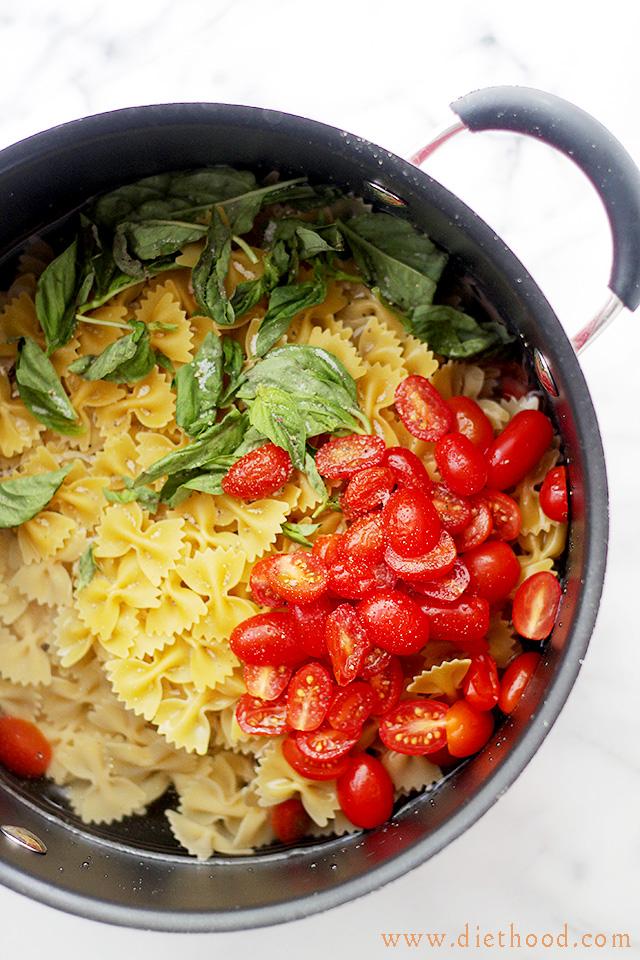 カプレーゼパスタのレシピ2