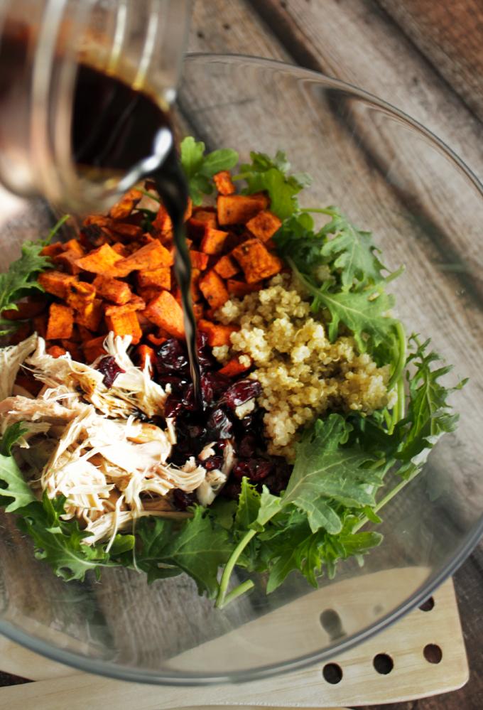 さつまいもとチキンとキヌアのサラダ2