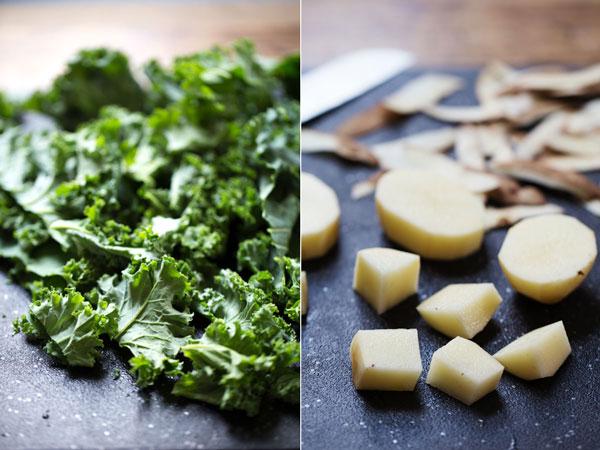 ポテトとケールのクリーミースープのレシピ2
