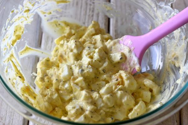 ヨーグルトエッグサラダのサンドイッチのレシピ2