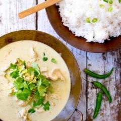 タイのグリーンチキンカレー