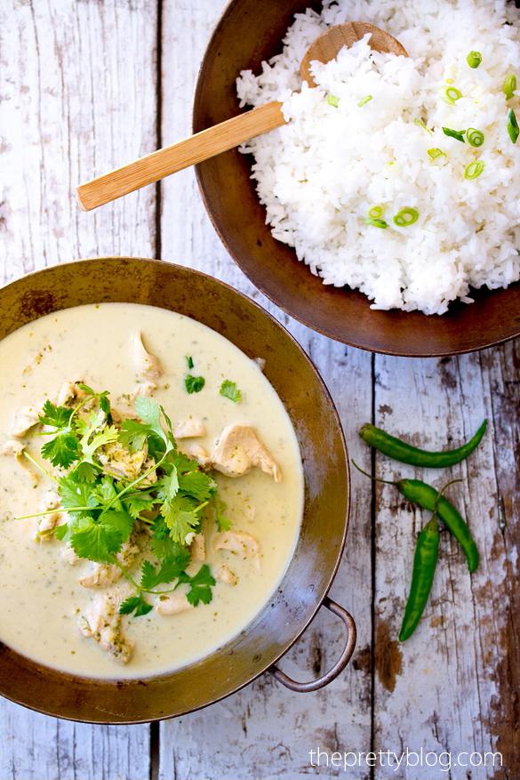 タイのグリーンチキンカレーのレシピ