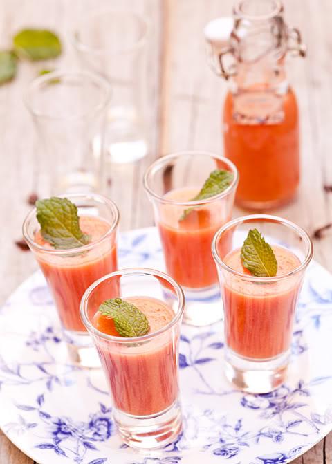 トマトとスイカのガスパチョのレシピ