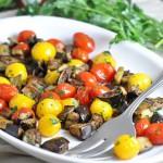 茄子とチェリートマトのスパイシーローストのレシピ