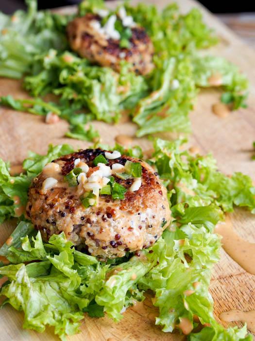 キヌア(キノア)と豚肉のハンバーグのレシピ