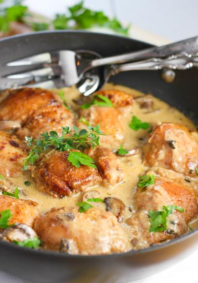 鶏肉とマッシュルームのクリームソテーのレシピ