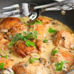 鶏肉とマッシュルームのクリームソテー