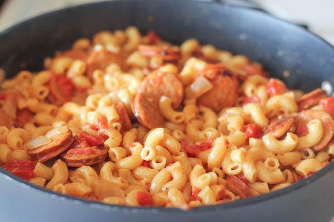ワンポットマカロニパスタのレシピ